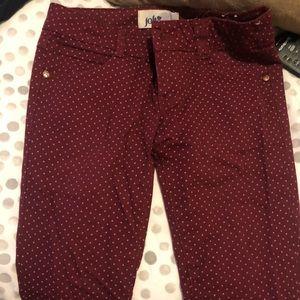 Pants - Burgundy jeans